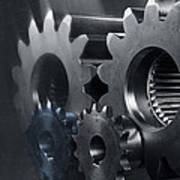 Gears And Power Poster by Christian Lagereek