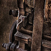 Gears And Pulley Poster by Susan Candelario