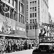 General Patton Ticker Tape Parade Poster by War Is Hell Store