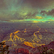 Gentle Sunrise Over The Canyon Poster by Lisa  Spencer