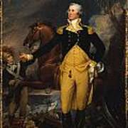 George Washington Before The Battle Of Trenton Poster by John Trumbull