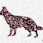 German Shepherd - Animal Art Poster by Anastasiya Malakhova