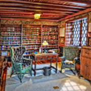 Gillette Castle Library Poster by Susan Candelario