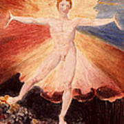 Glad Day Or The Dance Of Albion Poster by William Blake