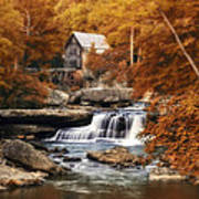 Glade Creek Mill Selective Focus Poster by Tom Mc Nemar