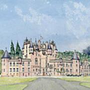Glamis Castle Tayside  Poster by David Herbert
