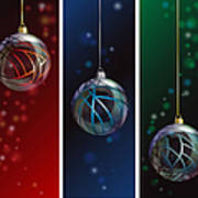 Glass Bauble Banners Poster by Jane Rix
