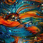 Glass Macro Abstract Rto Poster by David Patterson