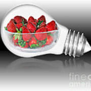 Global Strawberries Poster by Kaye Menner