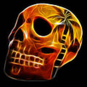 Glowing Skull Poster by Shane Bechler