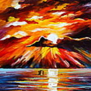 Glowing Sun Poster by Leonid Afremov