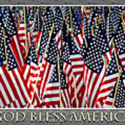God Bless America Poster by Carolyn Marshall