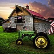 God Bless America Poster by Debra and Dave Vanderlaan