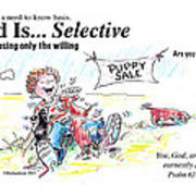 God Is Selective Poster by George Richardson