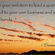 Godly Ambition Poster by Glenn McCarthy Art and Photography