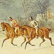 Going Out In A Snowstorm Poster by Henry Thomas Alken
