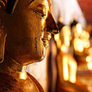 Gold Buddha At Wat Phrathat Doi Suthep Poster by Metro DC Photography