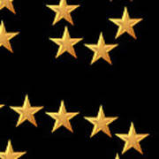 Gold Stars Abstract Triptych Part 3 Poster by Rose Santuci-Sofranko