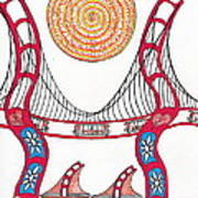 Golden Gate Bridge Dancing In The Wind Poster by Michael Friend