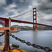 Golden Gate Bridge Poster by Eduard Moldoveanu