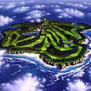 Golfer's Paradise Poster by Jerry LoFaro