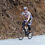 Grand Fondo Bike Ride Poster by Susan Leggett