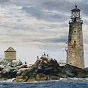 Graves Light House Poster by Karol Wyckoff