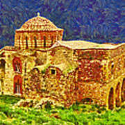 Greek Church 6 Poster by George Rossidis
