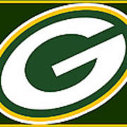 Green Bay Packers Poster by Tony Rubino