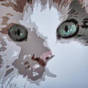 Green Eyes Poster by Patricia Januszkiewicz