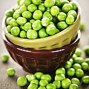 Green Peas Poster by Elena Elisseeva