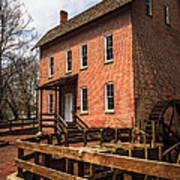 Grist Mill In Hobart Indiana Poster by Paul Velgos