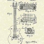 Guitar 1955 Patent Art Poster by Prior Art Design