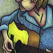 Guitar Man Poster by Kamil Swiatek