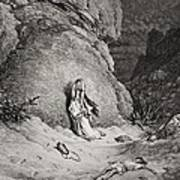 Hagar And Ishmael In The Desert Poster by Gustave Dore