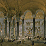 Haghia Sophia, Plate 6 The North Nave Poster by Gaspard Fossati