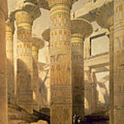 Hall Of Columns, Karnak, From Egypt Poster by David Roberts