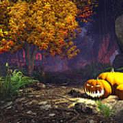 Halloween Pumpkins Poster by Marina Likholat
