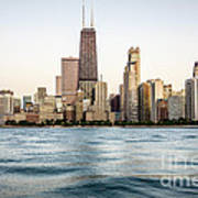 Hancock Building And Chicago Skyline Poster by Paul Velgos