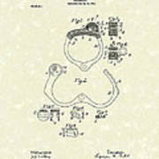 Handcuff 1899 Patent Art Poster by Prior Art Design