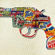 Handgun Logos Poster by Gary Grayson