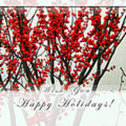 Happy Holidays Poster by Xueling Zou