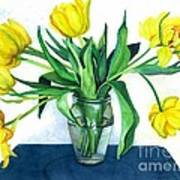 Happy Spring Poster by Barbara Jewell