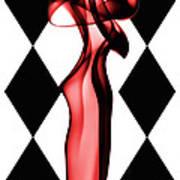 Harlequin Poster by Christine Smart