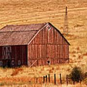 Harvest Barn Poster by Mary Jo Allen