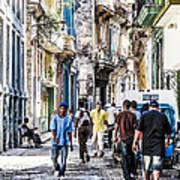 Havana Street Vii Poster by Jim Nelson