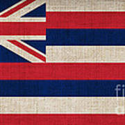 Hawaii State Flag  Poster by Pixel Chimp
