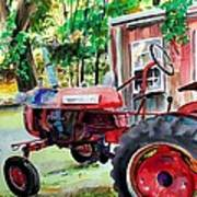 Hawk Hill Apple Tractor Poster by Scott Nelson