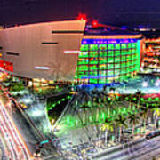 Hdr Of American Airlines Arena Poster by Joe Myeress