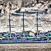 Hdr Tall Ship Boat Pirate Sail Sailing Photography Gallery Art Image Photo Buy Sell Sale Picture  Poster by Pictures HDR